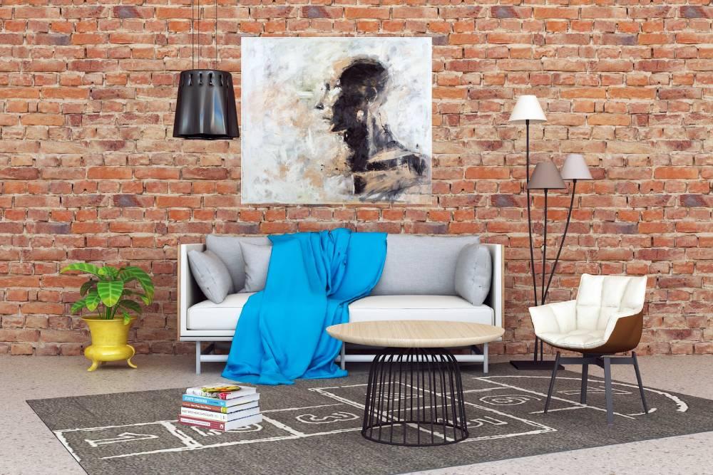 Pomysł na ceglaną ścianę w salonie
