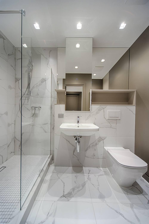 Mała łazienka w jasnym kolorze