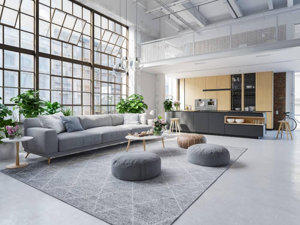 Wnętrze w stylu loft